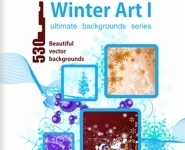 Weihnachten & Winter Art Vektor Backgrounds Vol 1 - Paket