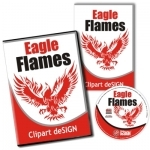 Eagle Flames Vector Art Collection - Paket | Download