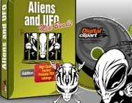 Aliens & UFO Vector Clipart Collection - Download