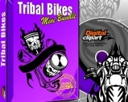 Tribal Bikes Vector Images Collection - Download