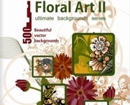 Floral Art Vector Backgrounds Vol 2 - Paket | Download