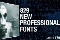Professional Font Library Collection 829