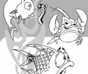 Funny Water Animals Vector Clipart Collection - Download