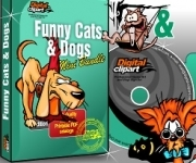 Funny Cats & Dogs Vector Clipart Collection - Download
