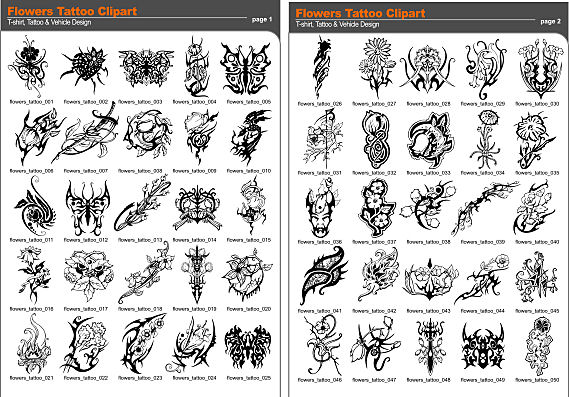 Floral Tattoo Katalog Picture